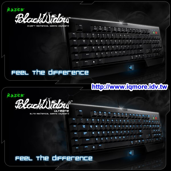 Razer 發表第一把 Razer BlackWidow、Razer BlackWidow Ultimate 機械式電競鍵盤