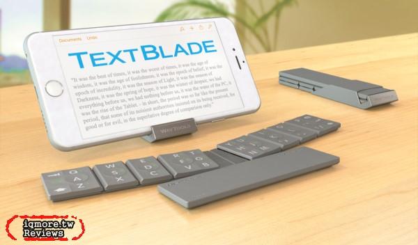 WayTools TextBlade 手掌大迷你藍牙鍵盤,比iPhone更小