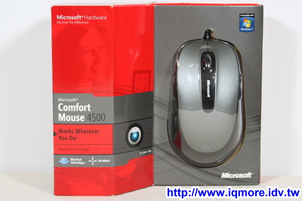 Microsoft (微軟) Comfort Mouse 4500 光學滑鼠評測