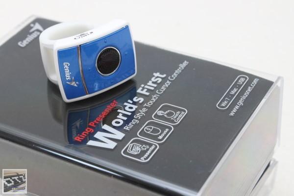 昆盈 Genius Ring Presenter 戒指簡報滑鼠 評測,提供簡報模式與滑鼠模式