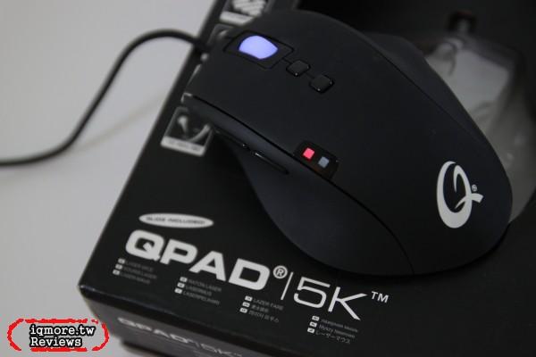 QPAD 5K 雷射電競滑鼠評測,採用Avago A9500 感應器
