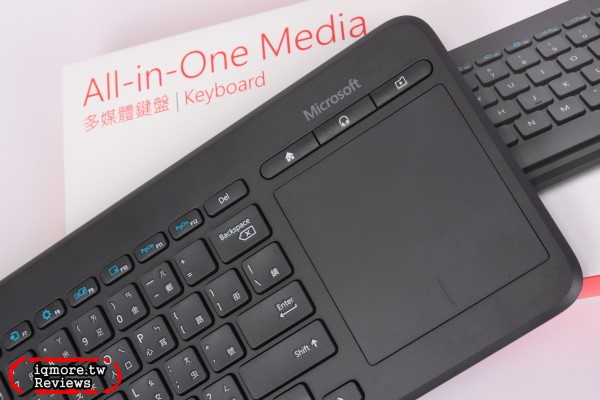 微軟 Microsoft All-in-One Media 2.4GHz多媒體鍵盤,可搭配支援USB HID的Smart TV使用