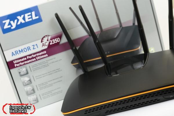ZyXEL (合勤) ARMOR Z1 無線AC2350同步雙頻多媒體路由器評測,採用雙核心處理器