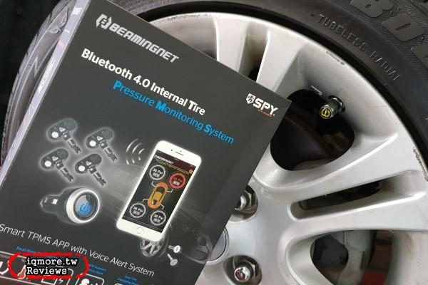 賀田嚴選 藍牙4.0無線胎壓偵測器系統 評測,四個輪子胎內式獨立監控