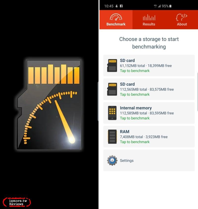 Tuxera A1 SD Bench 手機儲存裝置測速度,了解內部儲存與micro SD卡存取速度