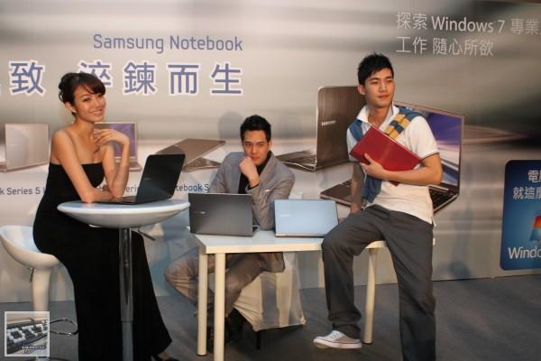 Samsung Series 9、7、5、3系列筆電 台灣上市記者會,強調薄邊框Slim Bezel設計