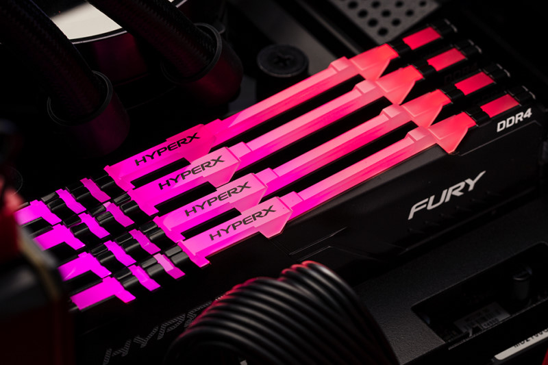 HyperX 推出全新FURY RGB DDR4 記憶體,最高可支援3466MHz速度