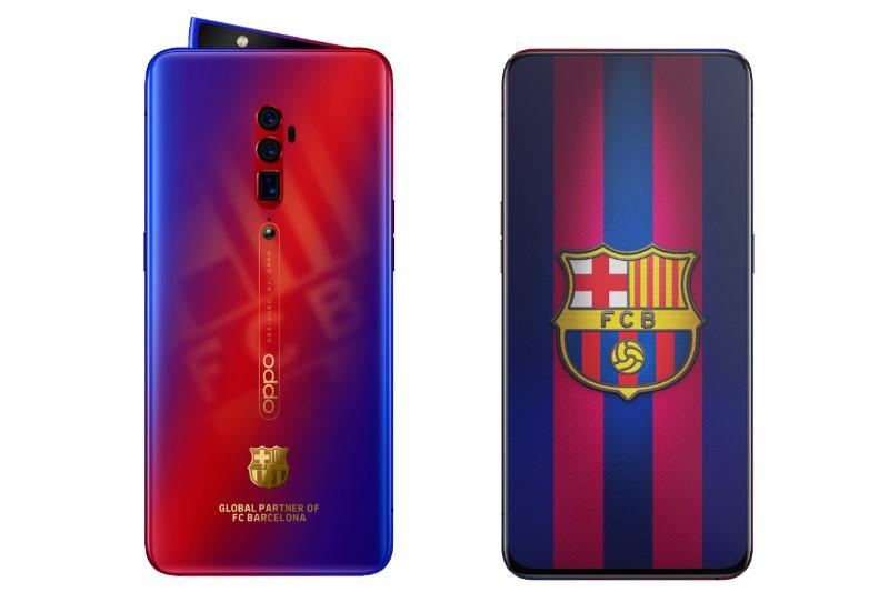 2019 OPPO 推出 OPPO Reno巴薩限量版手機!版延續了巴薩紅藍的經典配色設計