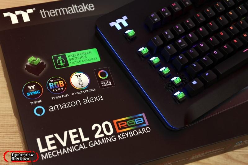 再一家Razer軸!曜越 Thermaltake Level 20 RGB 電競鍵盤 Razer軸版 台灣即將上市