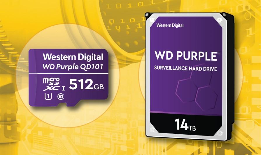 監控設備專用!WD推出超強耐寫度WD Purple SC QD101 microSD記憶卡,以及WD Purple 14TB監控硬碟