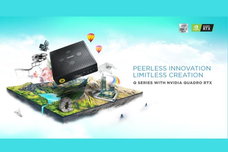 ZOTAC ZBOX QCM7T300 推出首款搭載第10代INTEL處理器及 NVIDIA QUADRO RTX顯示卡的迷你電腦工作站