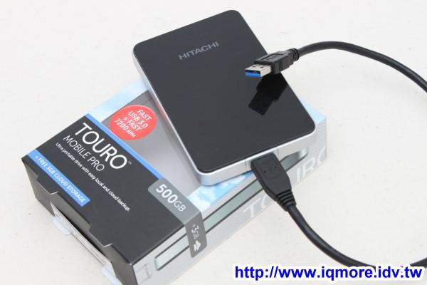 Hitachi (日立) TOURO Mobile Pro 500GB USB3.0 2.5吋行動外接硬碟 評測,加送3GB雲端儲存空間