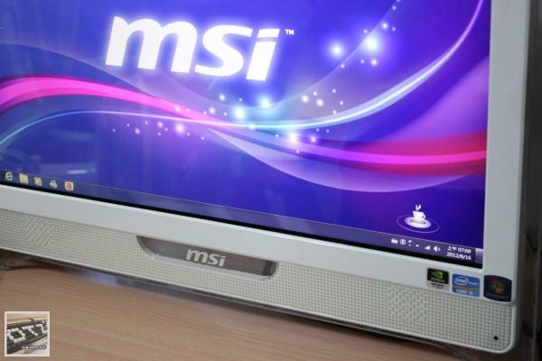 MSI Wind Top AE2281G All-in-One 一體成型觸控電腦 評測,1920 x 1080解析度