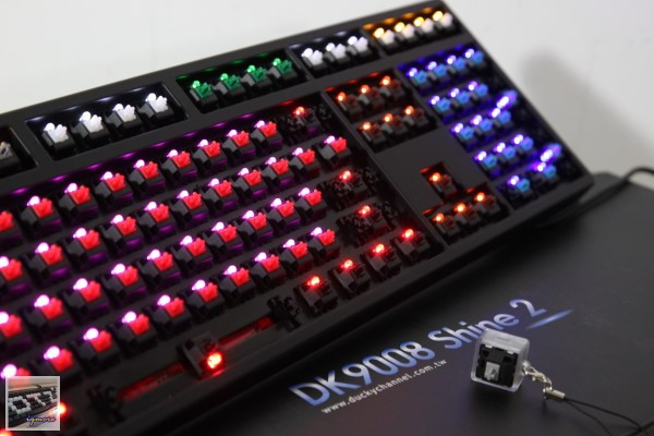 Ducky Shine 2 78 Version 多種背光與多種機械式鍵盤 搶先看,7燈8軸特別版本