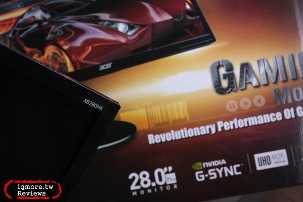 Acer XB280HK 4K高畫質 G-SYNC 28吋螢幕評測,NVIDIA G-SYNC遊戲更順暢