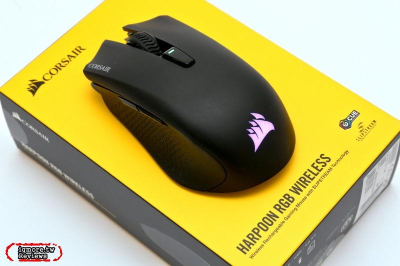 CORSAIR HARPOON RGB WIRELESS 無線遊戲三模滑鼠拆解評測,有線、藍牙、2.4GHz通吃!