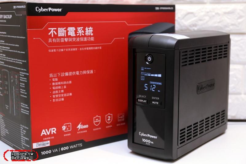 AVR穩壓在線互動式UPS!CyberPower CP1000AVRLCDa 不斷電系統 評測